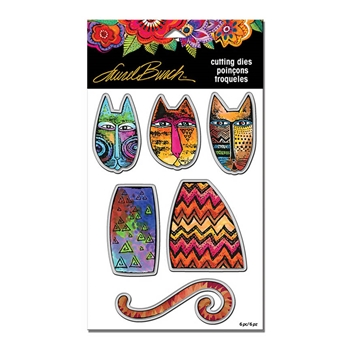 Stampendous TRIBAL CATS DIE CUT SET Laurel Burch lbdcs06