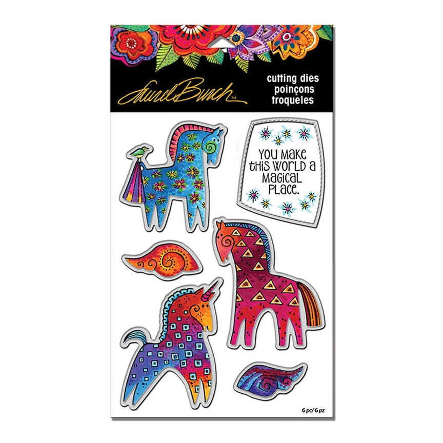 Stampendous MAGICAL HORSES DIE CUT SET Laurel Burch lbdcs07 zoom image