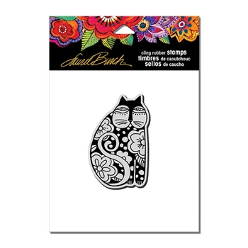 Stampendous Cling Stamp FLOWERING FELINE Rubber UM Laurel Burch lbcv009
