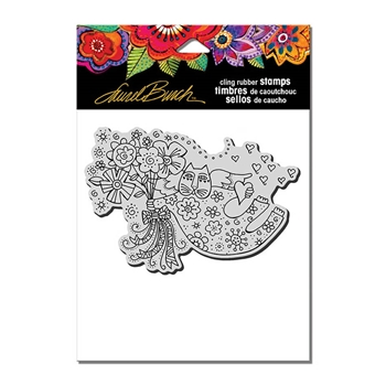 Stampendous Cling Stamp LOVE CAT ANGEL Rubber UM Laurel Burch lbcp010
