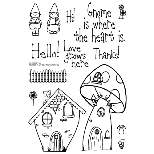 Joy Clair GNOME IS WHERE THE HEART IS Clear Stamp Set clr02150 Preview Image