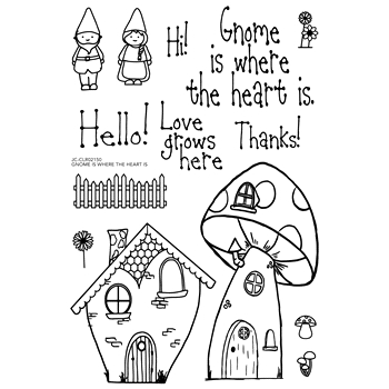 Joy Clair GNOME IS WHERE THE HEART IS Clear Stamp Set clr02150