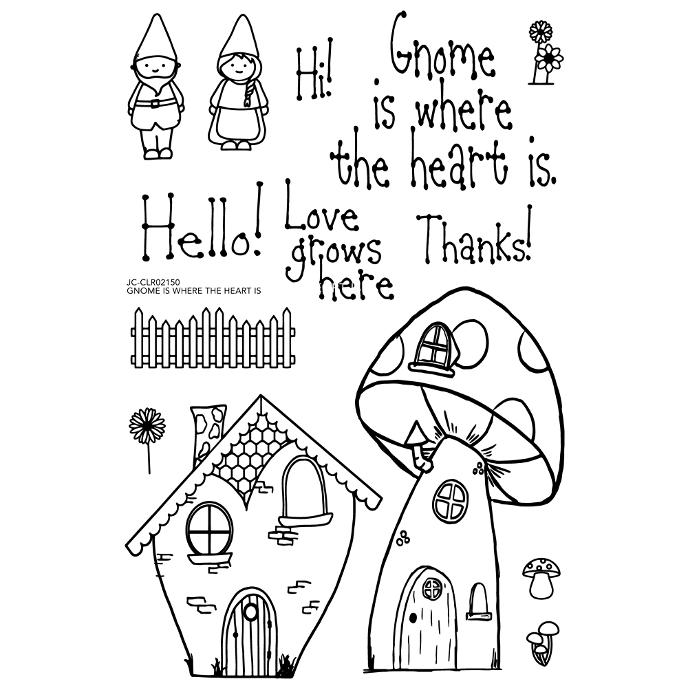 Joy Clair GNOME IS WHERE THE HEART IS Clear Stamp Set clr02150 zoom image