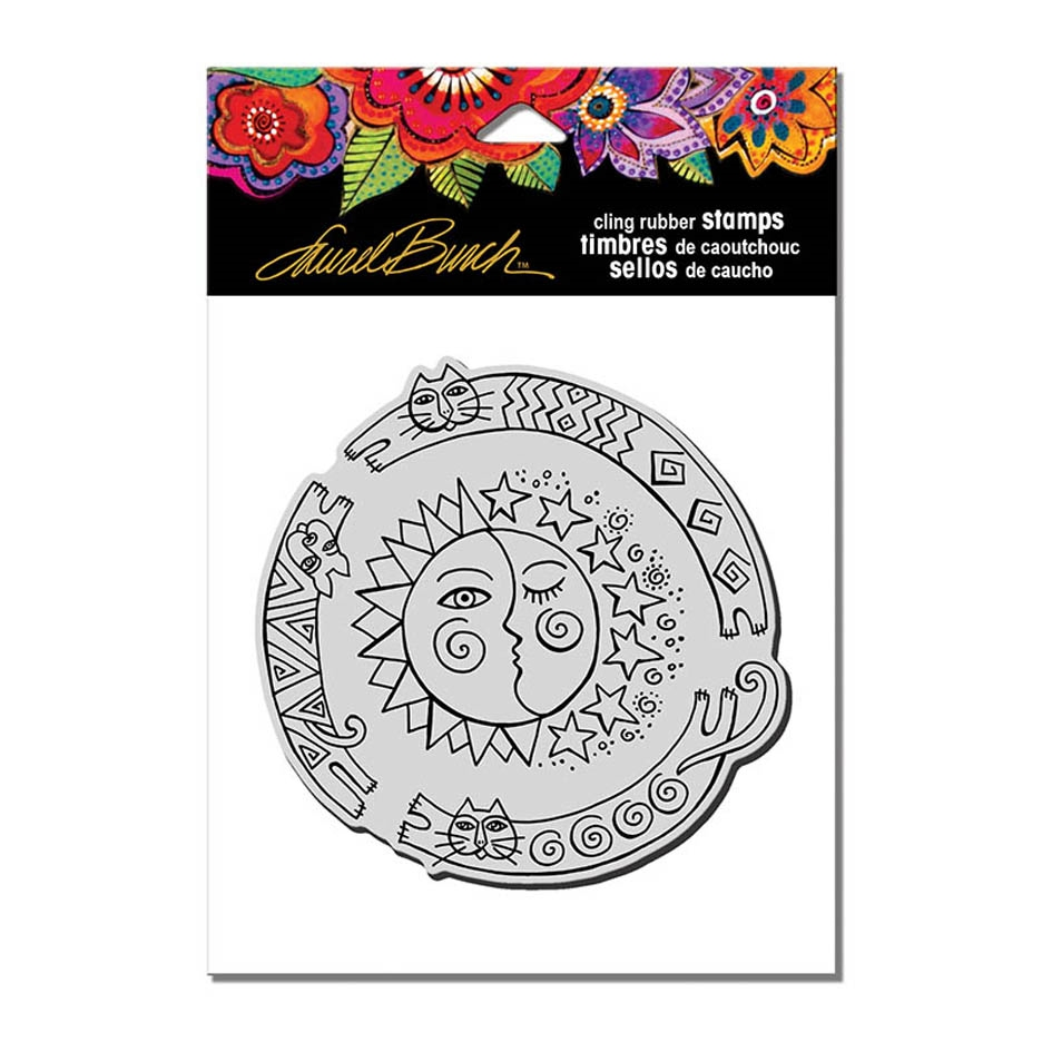 Stampendous Cling Stamp SUN CHASE Rubber UM Laurel Burch lbcw011 zoom image