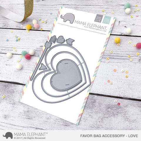 Mama Elephant FAVOR BAG ACCESSORY LOVE Creative Cuts Steel Die Set Preview Image