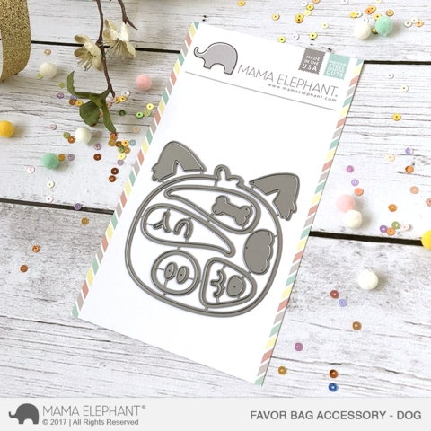 Mama Elephant FAVOR BAG ACCESSORY DOG Creative Cuts Steel Die Set Preview Image