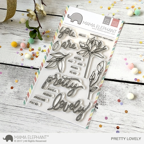 Mama Elephant Clear Stamps PRETTY LOVELY  Preview Image