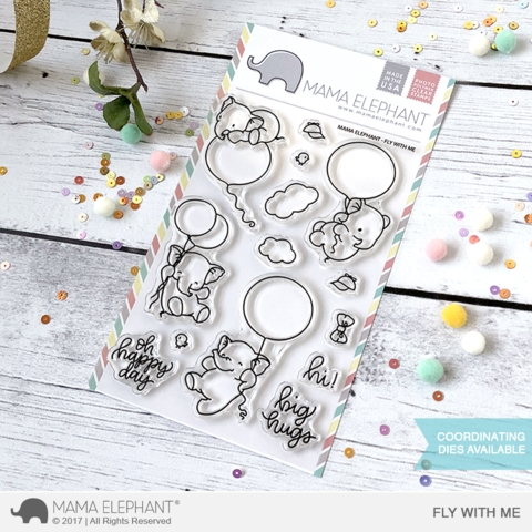 Mama Elephant Clear Stamp FLY WITH ME  Preview Image