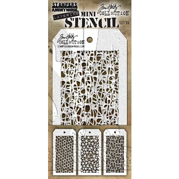 RESERVE Tim Holtz MINI STENCIL SET 35 MST035