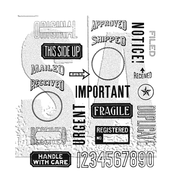 Tim Holtz Cling Rubber Stamps 2018 MAIL ART CMS339