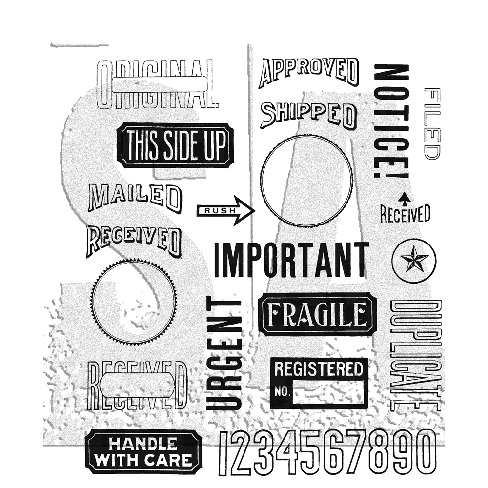 Tim Holtz Cling Rubber Stamps 2018 MAIL ART CMS339 zoom image