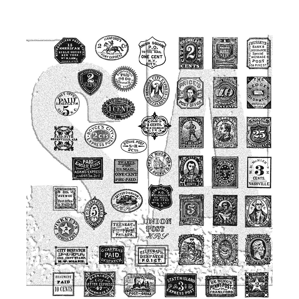 Tim Holtz Cling Rubber Stamps 2018 STAMP COLLECTOR CMS338 zoom image