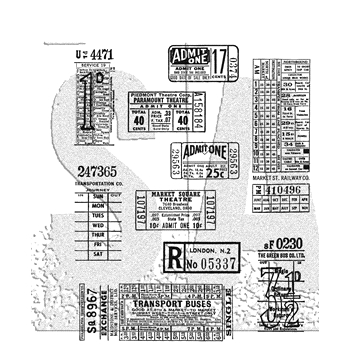 RESERVE Tim Holtz Cling Rubber Stamps 2018 TICKET BOOTH CMS337