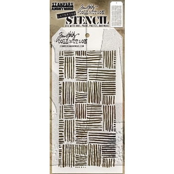 RESERVE Tim Holtz Layering Stencil THATCHED THS104
