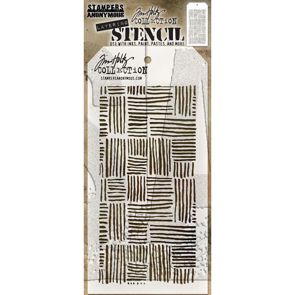 Tim Holtz Layering Stencil THATCHED THS104 zoom image