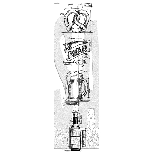 Tim holtz mini blueprints strip beer cling rubber stamps thmb029 at tim holtz mini blueprints strip beer cling rubber stamps thmb029 preview image shadow malvernweather Image collections