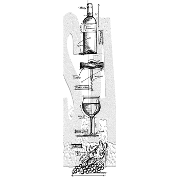 Tim Holtz Mini Blueprints Strip WINE Cling Rubber Stamps THMB028