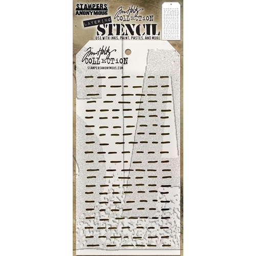 Tim Holtz Layering Stencil DASHES THS101 Preview Image