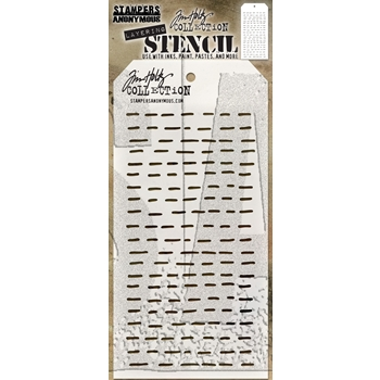 RESERVE Tim Holtz Layering Stencil DASHES THS101