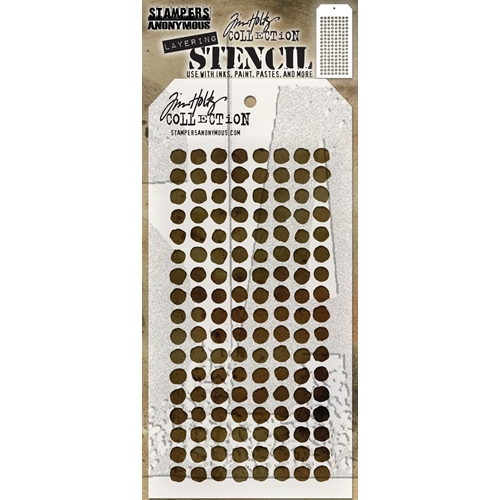 Tim Holtz Layering Stencil DOTTED THS100 Preview Image