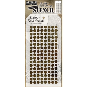 RESERVE Tim Holtz Layering Stencil DOTTED THS100