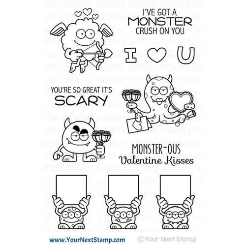 Your Next Stamp SILLY LOVE MONSTERS Clear cyns630 Preview Image