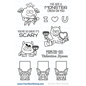 Your Next Stamp SILLY LOVE MONSTERS Clear cyns630