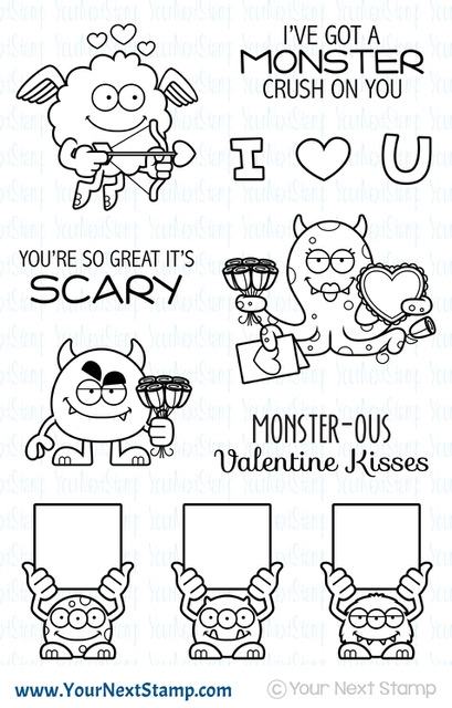 Your Next Stamp SILLY LOVE MONSTERS Clear cyns630 zoom image