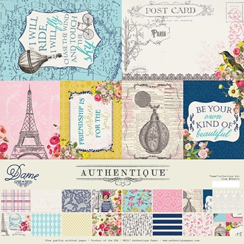 Authentique DAME 12 x 12 Collection Kit cda012