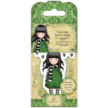 DoCrafts THE SCARF Mini Cling Stamp Gorjuss go907406
