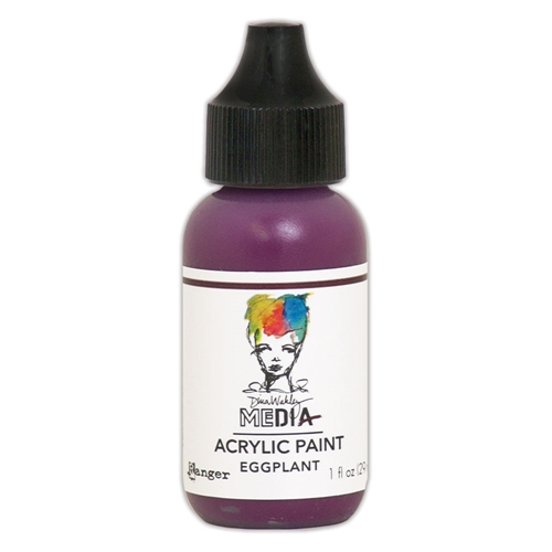 Dina Wakley Ranger EGGPLANT 1OZ Media Acrylic Paints mdq59813 Preview Image