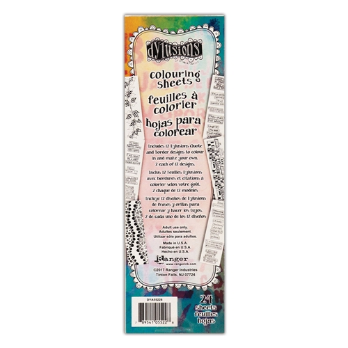 Ranger Dylusions BORDERS & QUOTES COLOURING SHEETS dya55228 Preview Image