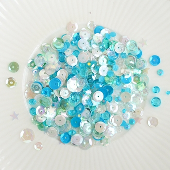 Little Things From Lucy's Cards SEA GLASS Sparkly Shaker Mix LB151