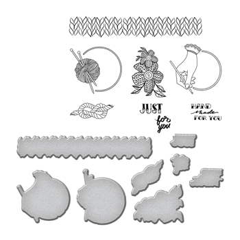 SDS-072 Spellbinders YARN by Stephanie Low Cling Stamp and Die Set