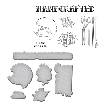 SDS-071 Spellbinders HANDCRAFTED by Stephanie Low Cling Stamp and Die Set