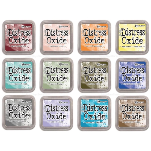 Tim Holtz Distress OXIDE INK PAD SET OF 12 Ranger ranger109