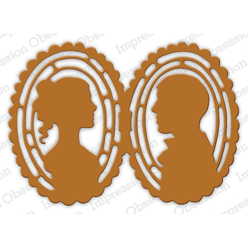 Impression Obsession Steel Dies CAMEO LOVERS DIE622-XX Preview Image