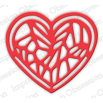 Impression Obsession Steel Dies JEWELED HEART DIE624-I