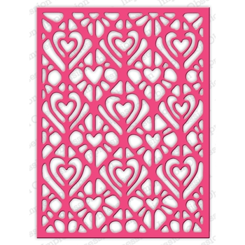 Impression Obsession Steel Dies LACY HEARTS DIE625-YY