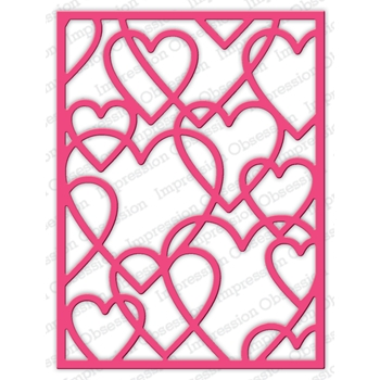 Impression Obsession Steel Dies LAYERED HEART FRAME DIE634-YY