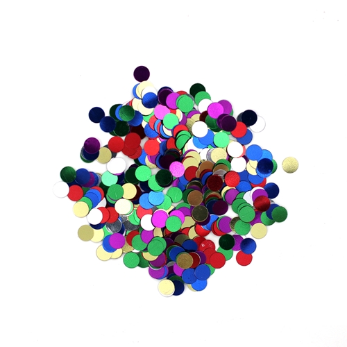 Darice 6mm Dot Shaped ASSORTED COLOR CONFETTI 163030 Preview Image