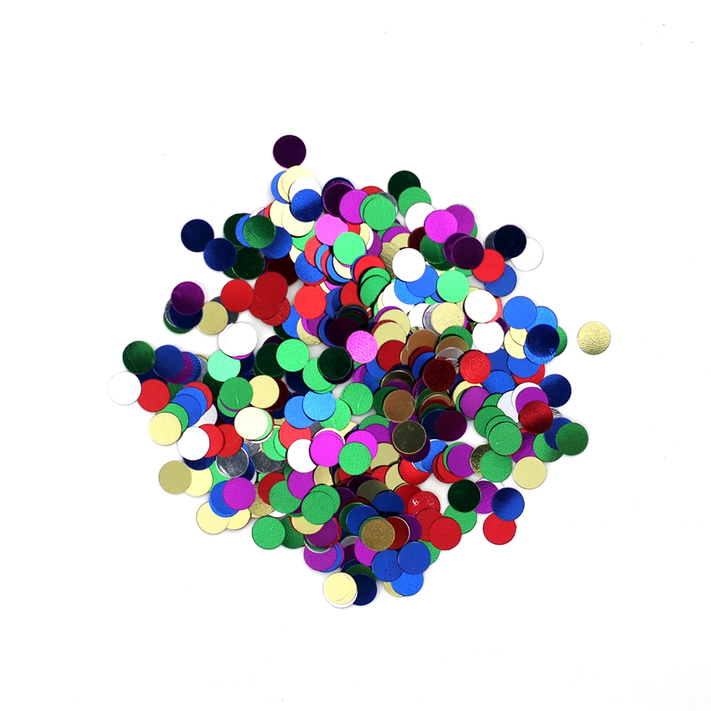 Darice 6mm Dot Shaped ASSORTED COLOR CONFETTI 163030 zoom image