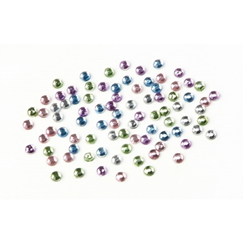 Darice Mini Rhinestones ASSORTED PASTEL Colors Flat Back 196625d