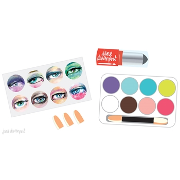 Jane Davenport EYE SHADOW Chalk Pastels Tin Mixed Media 320783