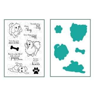 Gina K Designs PLAYFUL PUPS Clear Stamps and Coordinating Dies 5522