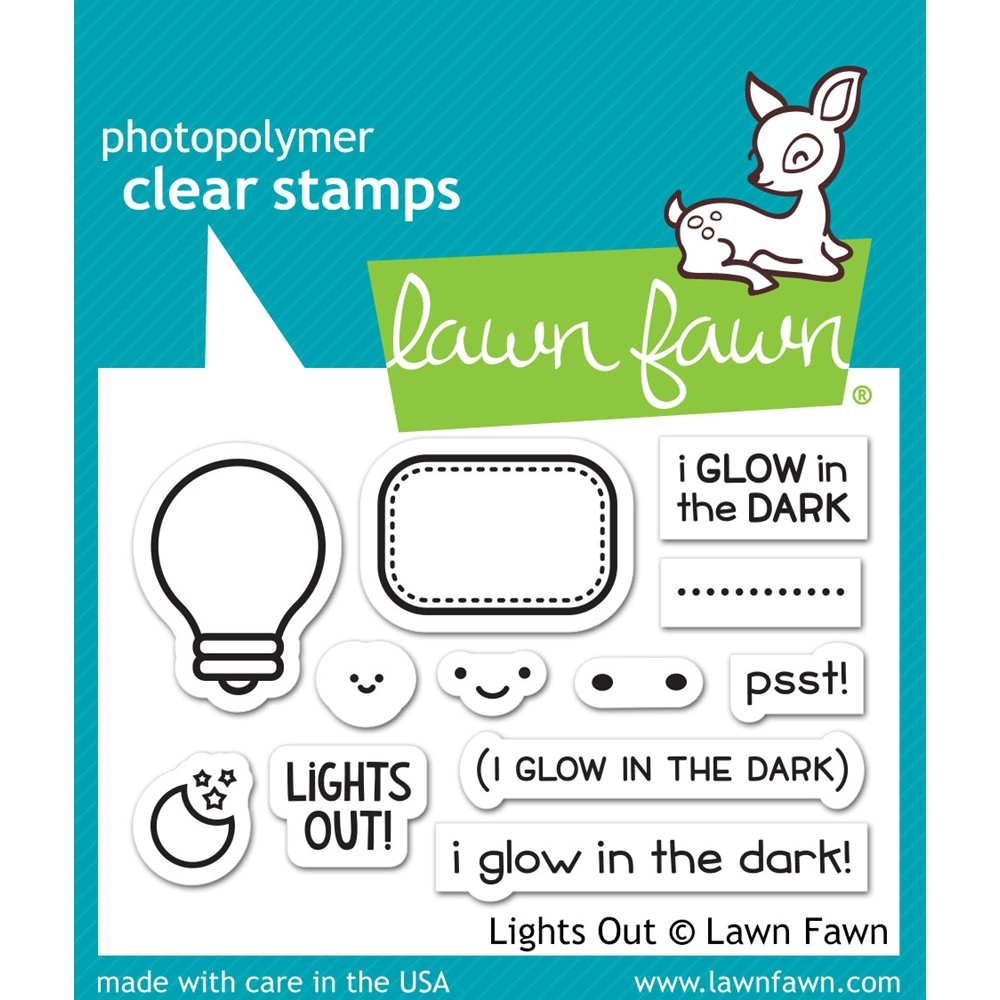 Lawn Fawn LIGHTS OUT Clear Stamps LF1631 zoom image