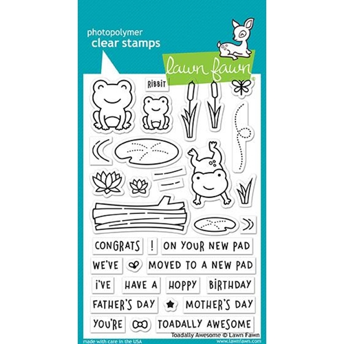 Lawn Fawn TOADALLY AWESOME Clear Stamps LF1581 Preview Image