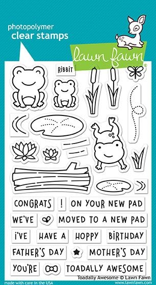 Lawn Fawn TOADALLY AWESOME Clear Stamps LF1581 zoom image
