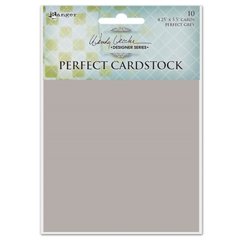 Ranger Wendy Vecchi 4.25 x 5.5 GREY CARDS Perfect Cardstock wva62394