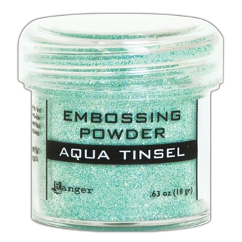 Ranger Embossing Powder AQUA TINSEL epj60413